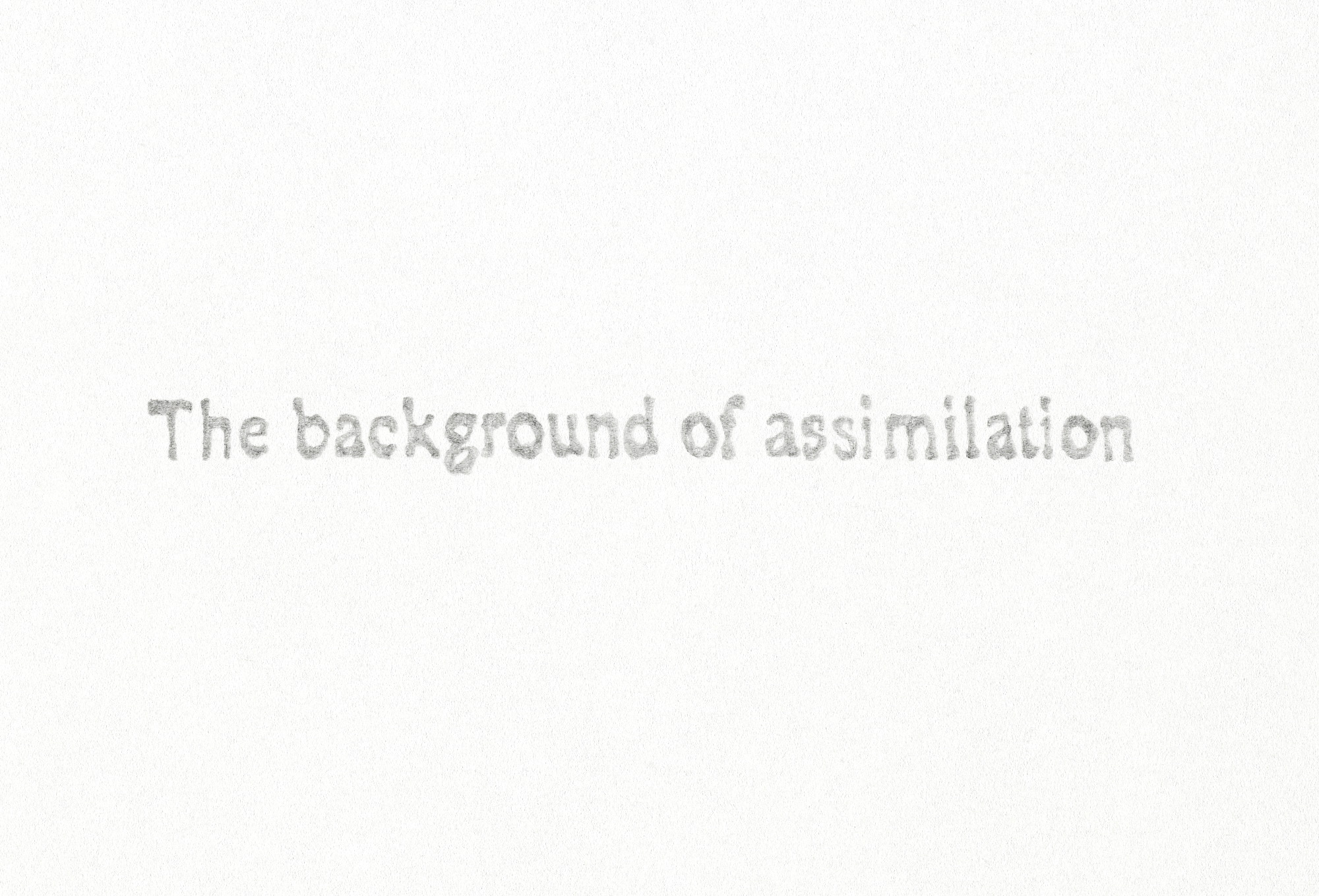an essay on the assimilation of Free assimilation papers, essays, and research papers.