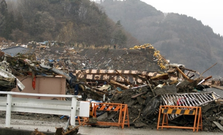 Near the Temple at Otsuchi after the 2011 Tsunami.  Photo and permission Aeneas Wilder