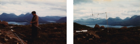 Photos taken by SC circa 1981 featuring the artist's father assembling a home-made 2m antenna above Loch Torridon