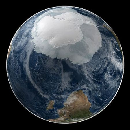 Global View of the Arctic and Antarctic on September 21, 2005. Courtesy NASA/Goddard Space Flight Center Scientific Visualization Studio The Blue Marble data is courtesy of Reto Stockli (NASA/GSFC).