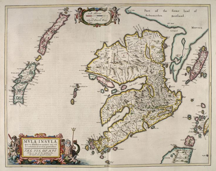"""VLWA"" and surrounding islands from Blaeu's Atlas Maior (1654) from the National Library of Scotland"