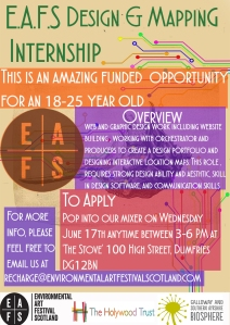 EAFS Design and Mapping Intern Advert WEB