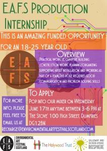 EAFS Production Intern Advert WEB