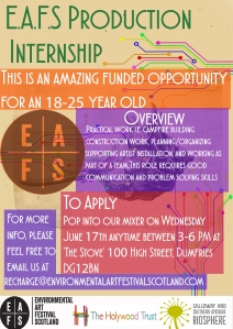 EAFS Production Intern Advert WEB