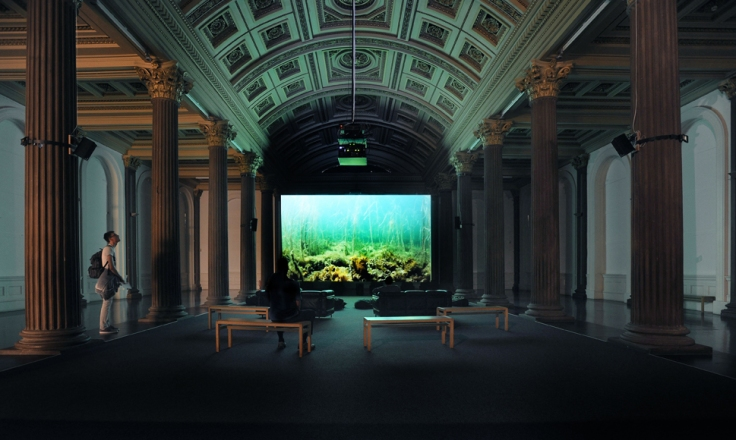 'Clyde Reflections' installed at the Glasgow gallery of Modern Art, June 2015.