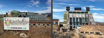 Sample structures of the Greater World Community of Earthships, New Mexico
